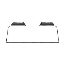 Декоративная пластмассовая крышка, двойная плоская для труб
