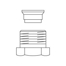 Присоединение Ofix CEP для внутренней резьбы для медной трубы