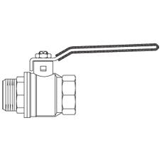 Краны шаровые Орtibal внутренняя/наружная резьба, ручка рычаг