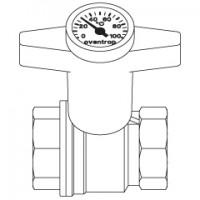 Краны шаровые Орtibal с термометром внутренняя/внутренняя резьба