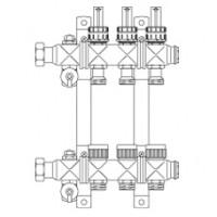 """Multidis SF гребенка 1"""" из нержавеющей стали со встроенными ротаметрами"""