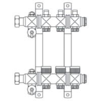 """Multidis SF гребенка 1"""" из нержавеющей стали для панельного отопления"""