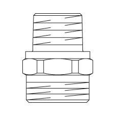 Ниппель–переход Cofit S из бронзы, без покрытия