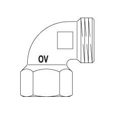 Угольник–переход 90° Oventrop