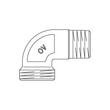 Присоединительный угольник 90° Oventrop
