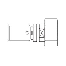 Cofit P с накидной гайкой прессовое соединение, евроконус