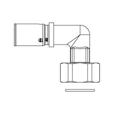 Прессовый угольник–переход с накидной гайкой