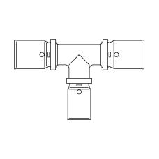 Прессовый тройник с уменьшенным отводом