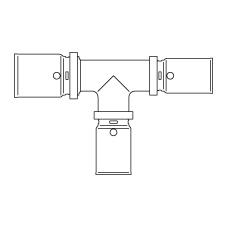 Прессовый тройник с уменьшенными проходом и отводом