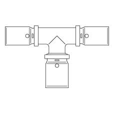 Прессовый тройник с увеличенным отводом