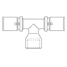 Прессовый тройник–переход с внутренней резьбой