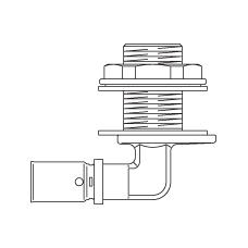 Прессовый угольник 90° для прохода через стену