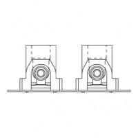 Монтажная шина с отводами и шумоизоляционными кожухами с плоским крепежом