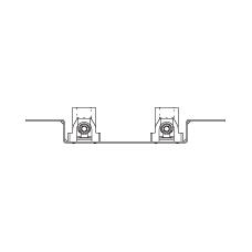 Монтажная шина с отводами и шумоизоляционными кожухами, с изогнутым крепежом
