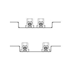 Монтажная шина с отводами и шумоизоляционными кожухами, удлиненный размер
