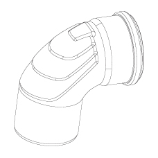 Отвод длинный с резиновым уплотнением