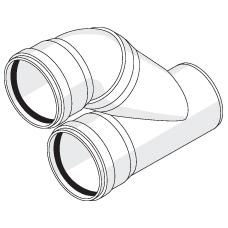 Отвод параллельный с резиновыми уплотнительными кольцами