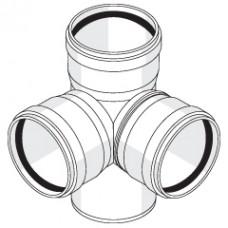 Крестовина двухплоскостная с резиновыми уплотнительными кольцами
