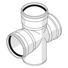 Крестовина одноплоскостная с резиновыми уплотнительными кольцами