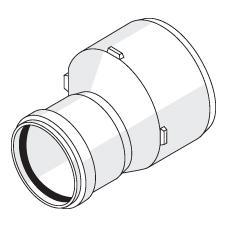Переходник с резиновым уплотнительным кольцом