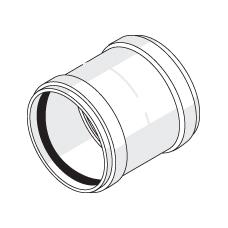 Муфта двухраструбная с резиновыми уплотнительными кольцами