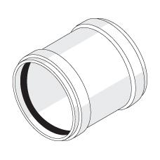 Надвижная муфта с резиновыми уплотнительными кольцами