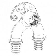 Угольник настенный RAUTITAN RX проходной с внутренней резьбой