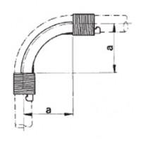 Фиксатор поворота с кольцами 90 градусов