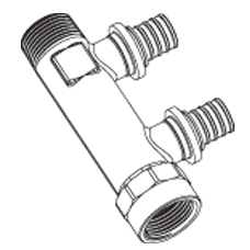 Распределительная гребенка RAUTITAN R/Rp 3/4-16/20 с присоединением труб на надвижных гильзах
