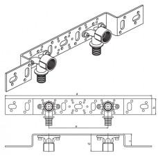Монтажный блок для скрытого монтажа под штукатуркой