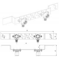 Монтажный блок для скрытого монтажа на фальшстене