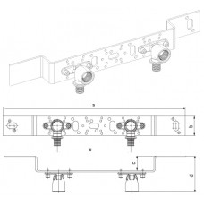 Монтажный блок для открытого монтажа O 75/150 короткого RX